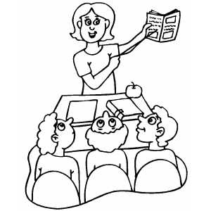 Teacher Explanation To Students coloring page