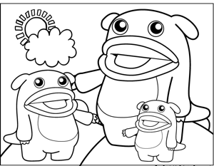 Big Mouth Monsters coloring page