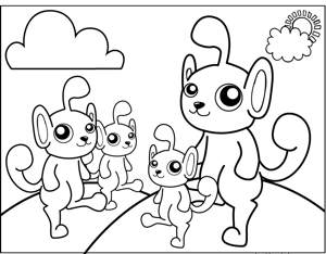 Cute Monsters coloring page
