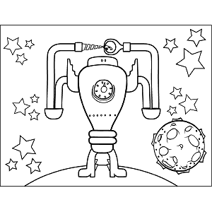 Drill Bit Monster coloring page