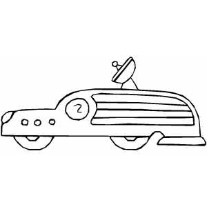 Explorer Car coloring page