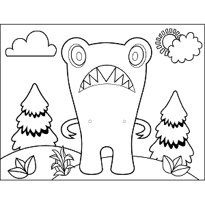 Fierce Monster coloring page