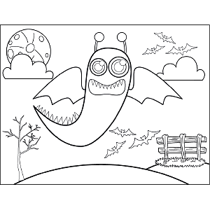 Flying Monster coloring page