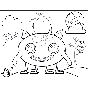 Four-Legged Monster coloring page