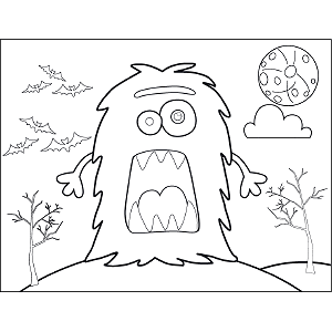 Furry Monster coloring page