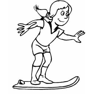 Future Girl On Skateboard coloring page