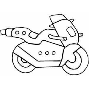 Futuristic Motorcycle Coloring Page