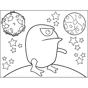 Giant Space Frog coloring page