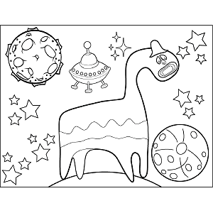 Horsie Space Alien coloring page
