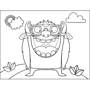 Large-mouth Monster coloring page