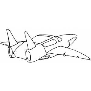 Modern Space Ship coloring page