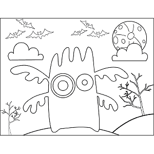 Monster Four Arms coloring page