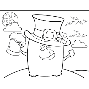 Monster Leprechaun coloring page