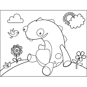 Monster Sitting coloring page