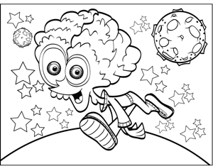 Nerdy Alien coloring page