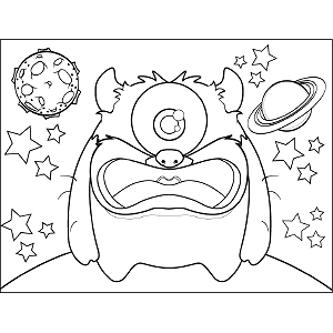 One-Eyed Space Monster coloring page