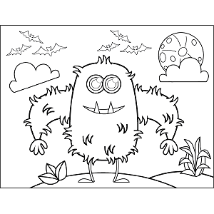 Prickly Monster coloring page
