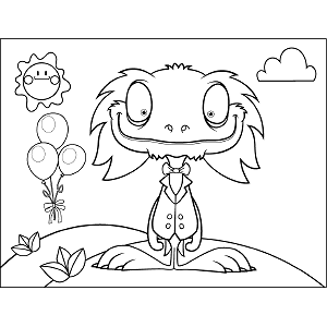 Silly Monster coloring page