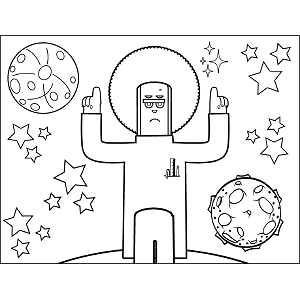 Space Alien Leader coloring page