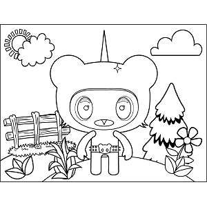 Space Alien Pointy Head coloring page