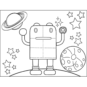 Space Alien Rivets coloring page