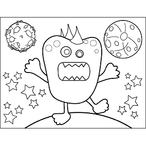 Space Alien Tantrum coloring page