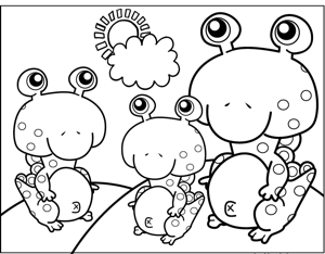 Spotted Monsters coloring page