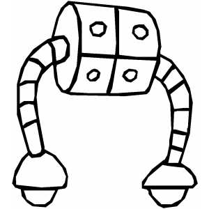 Square Robot coloring page