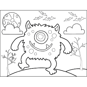 Stomping Monster coloring page