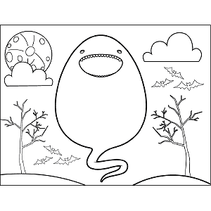 Tadpole Monster coloring page