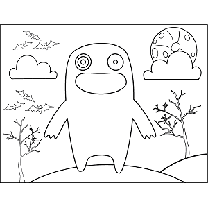 Toothless Monster coloring page