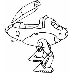 Walker Robot coloring page