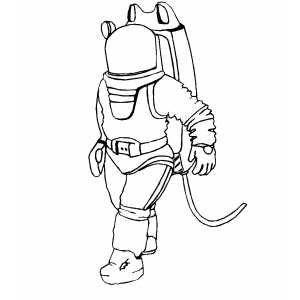 Walking Spaceman coloring page