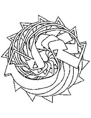 Tribal Thorn Sun Coloring Page