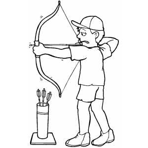 Archery Coloring Page