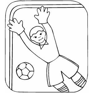 Ballkeeper In Movement coloring page