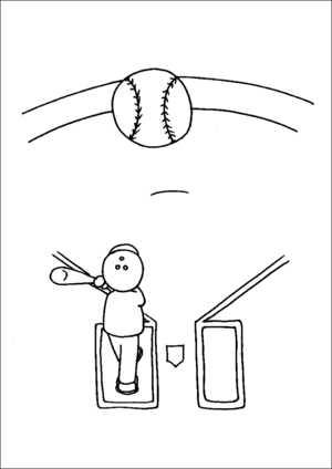 Baseball Pop Fly coloring page