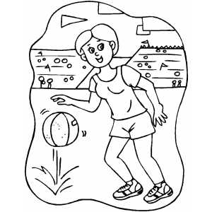 Basketball Girl Player coloring page