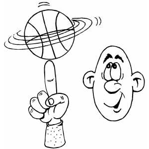 Basketball Tricks coloring page