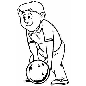 Bowler Making A Shot coloring page