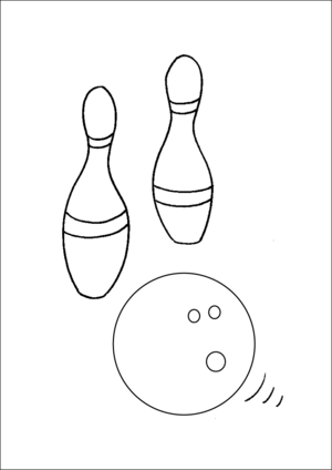 Bowling Ball And Pins coloring page