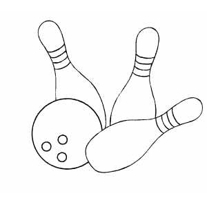 bowling balls and pins coloring page - Bowling Pictures To Color