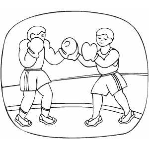 Boxing Boxers coloring page