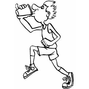 Drinking Runner coloring page