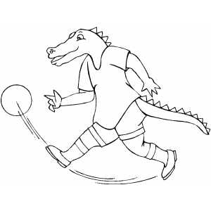Gator Basketball Player coloring page