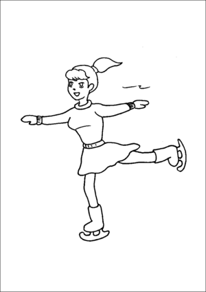 Free Kids Ice Skating Coloring Pages, Download Free Clip Art, Free Clip Art  on Clipart Library | 424x300