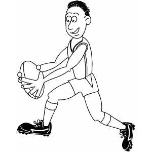 Rugby Player coloring page