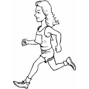 Runner Girl coloring page