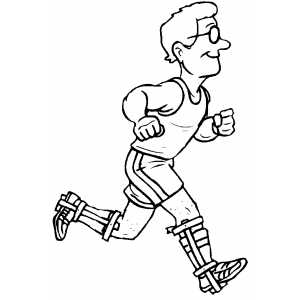 Runner In Glasses Coloring Page