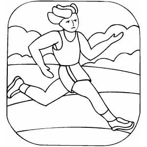 Running Runner Coloring Page